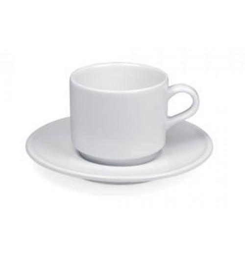 Набор Espresso Delfi; чашка 90 мл штабелируемая и блюдце 13 см, шпатовый фарфор