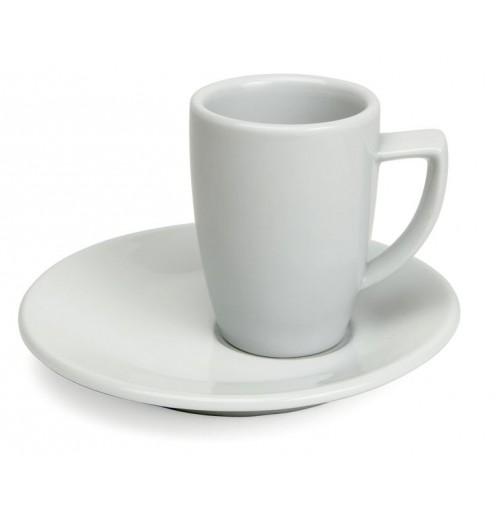 Набор Espresso Rimini: чашка 60 мл  и асимметричное блюдце 12.5 см, шпатовый фарфор