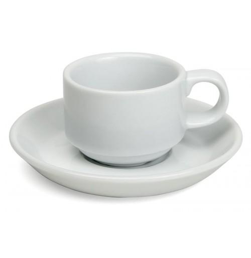 Набор Kaffe Paris: чашка штабелируемая  180 мл и блюдце 14.5 см, шпатовый фарфор