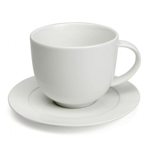 Набор Kaffe Zeus: чашка 220 мл и блюдце 14 см, костяной фарфор