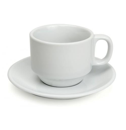 Набор Kaffe Cupido: чашка 200 мл и блюдце 14.5 см, шпатовый фарфор