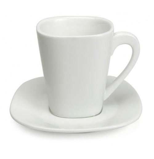 Набор Espresso Madrid: чашка 80 мл и блюдце 11.5 см, костяной фарфор