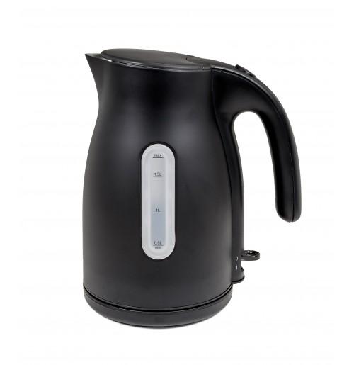 Чайник электрический 1.7 л 220 W черный матовый, нержавеющая сталь