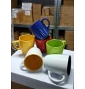 Набор из 6 цветных кружек по 250-300 мл, керамика