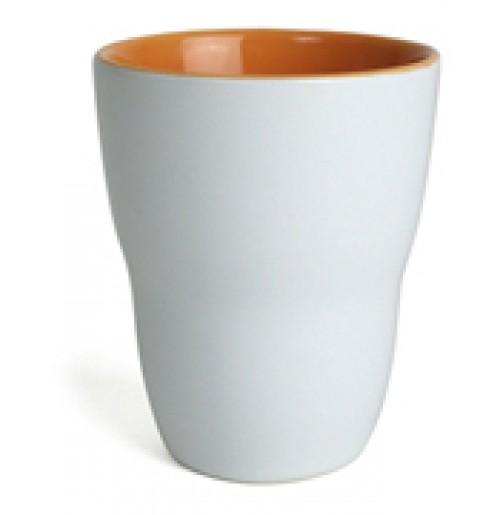 Кружка Eos 250 мл белая/оранжевая, керамика