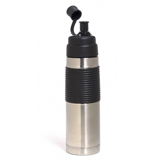 Бутылка для воды 0.5 л, нержавеющая сталь и пластик