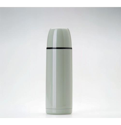 Термос 0.5 л серый глянцевое покрытие, нержавеющая  сталь
