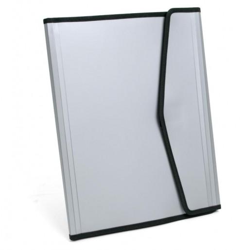 Папка для документов А4  серая без блока, пластик