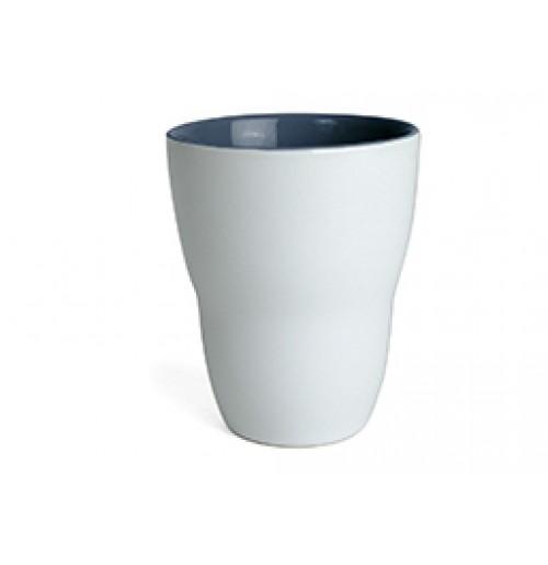 Кружка Eos 250 мл белая/темно-синяя, керамика