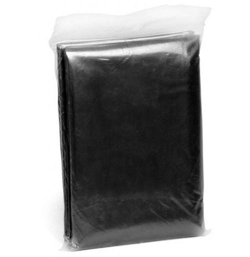 Дождевик-пончо черный, PE 0.02 мм