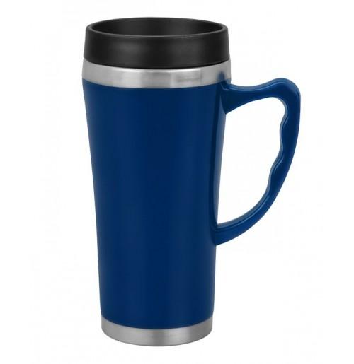 Термокружка  0.4 л синяя (ВЫСТАВОЧНЫЙ ОБРАЗЕЦ 1 ШТ), нержавеющая  сталь /  пластик