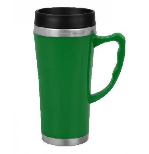 Термокружка  0.4 л зеленая (ВЫСТАВОЧНЫЙ ОБРАЗЕЦ 1 ШТ), нержавеющая сталь / пластик