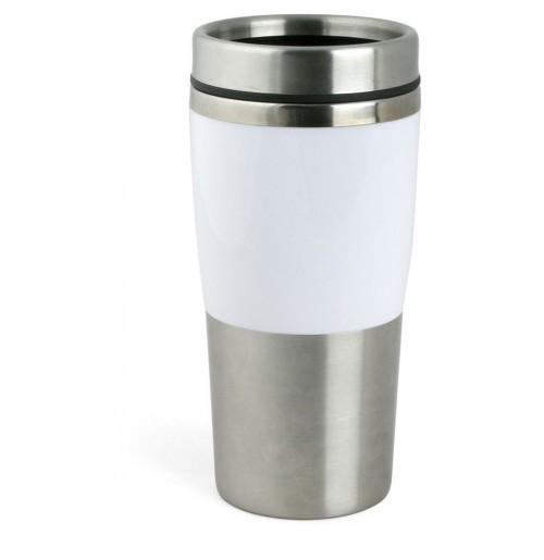 Термостакан 0.4 л белый, нержавеющая сталь и пластик