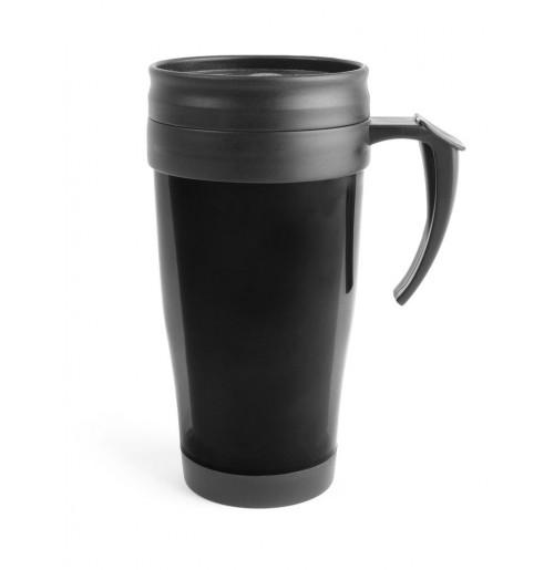 Термокружка 0.4 л черная, пластик