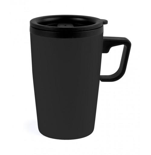 Термокружка 0.33 л черная (ВЫСТАВОЧНЫЙ ОБРАЗЕЦ 1 ШТ), пластик и нержавеющая сталь