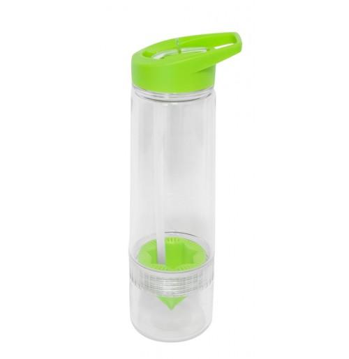 Бутылка для воды 650 мл лайм, с прессом для цитрусовых , поликарбонат