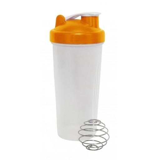 Бутылка-шейкер 0.7 л оранжевая, пластик