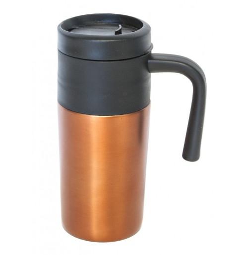 Термокружка 0.33 л оранжевая, нержавеющая сталь