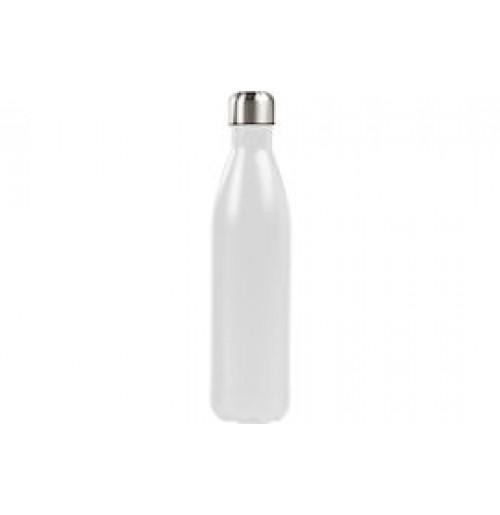 Бутылка-термос 1 л белая, нержавеющая сталь