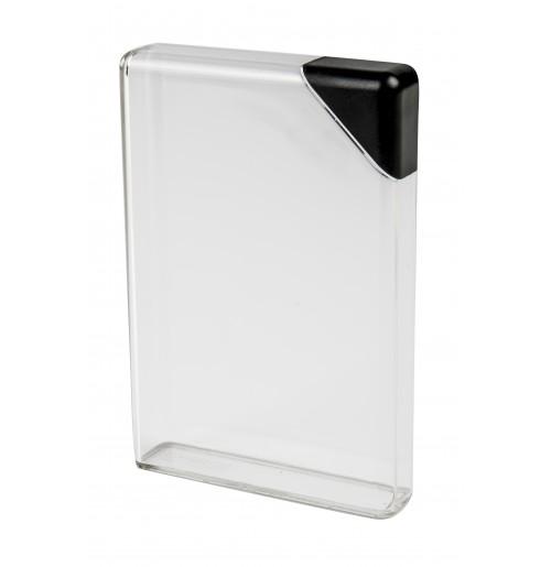 Фляга для воды 375 мл плоская черная, пластик
