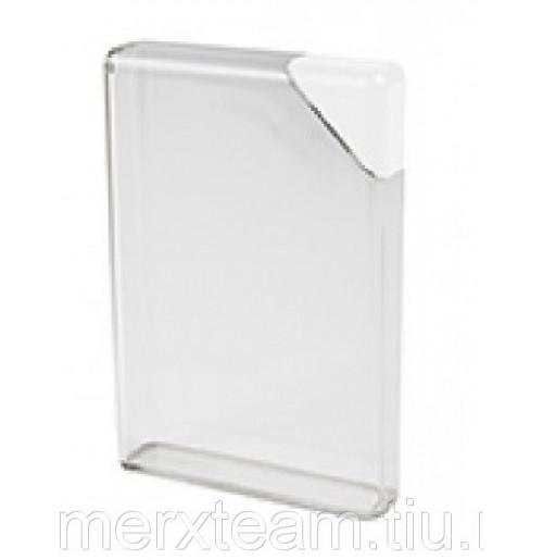 Фляга для воды 375 мл плоская белая, пластик