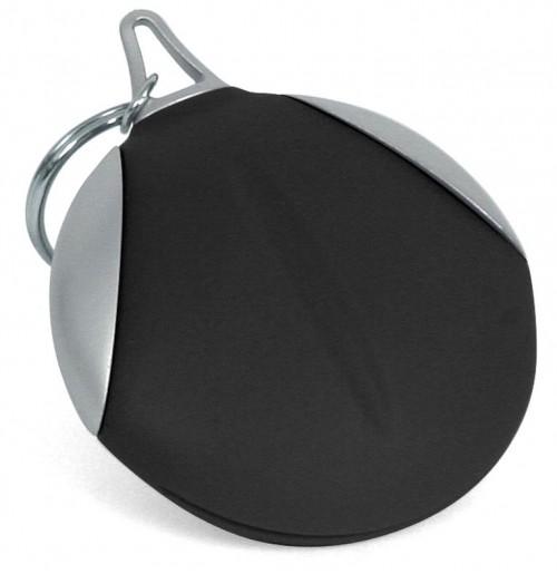 Брелок с салфеткой для оптики черный , силикон и пластик