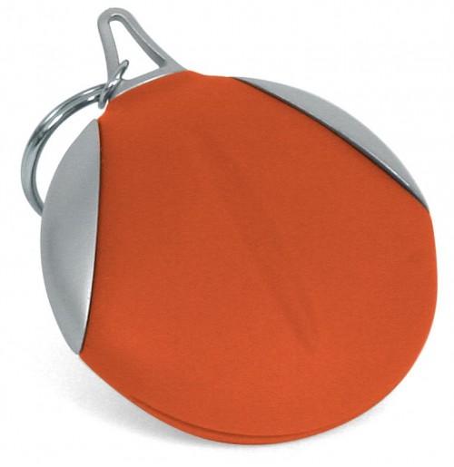 Брелок с салфеткой для оптики красный , силикон и пластик