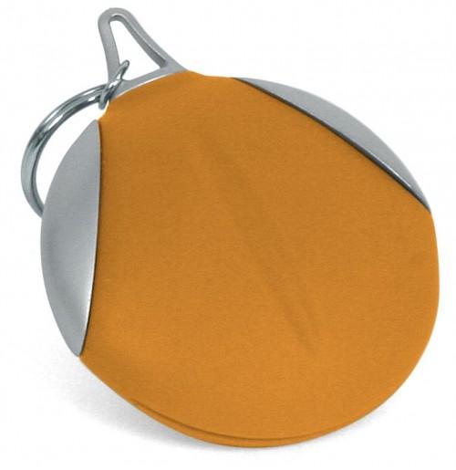 Брелок с салфеткой для оптики оранжевый , силикон и пластик