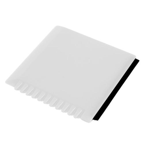 Скребок для очистки стекол белый, пластик