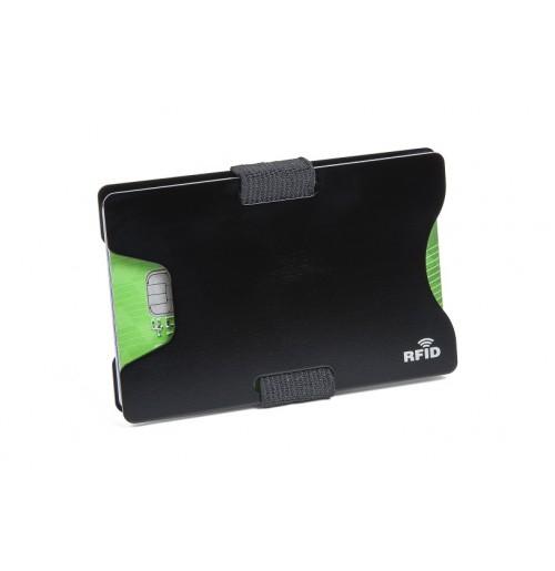 Чехол-бумажник для банковских карт с RFID эффектом, алюминий