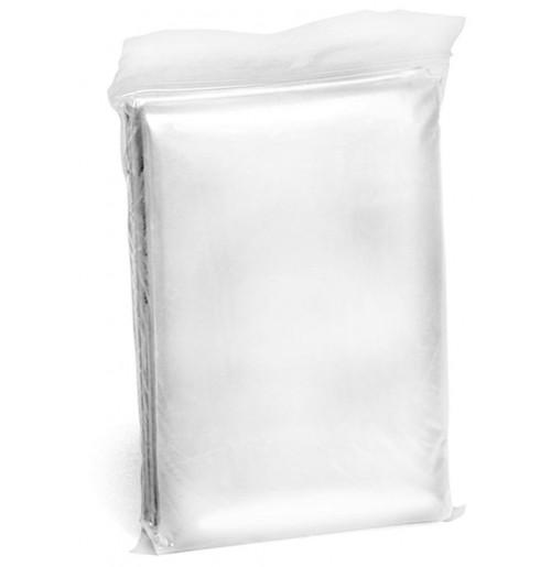 Дождевик-пончо белый, PE 0.02 мм